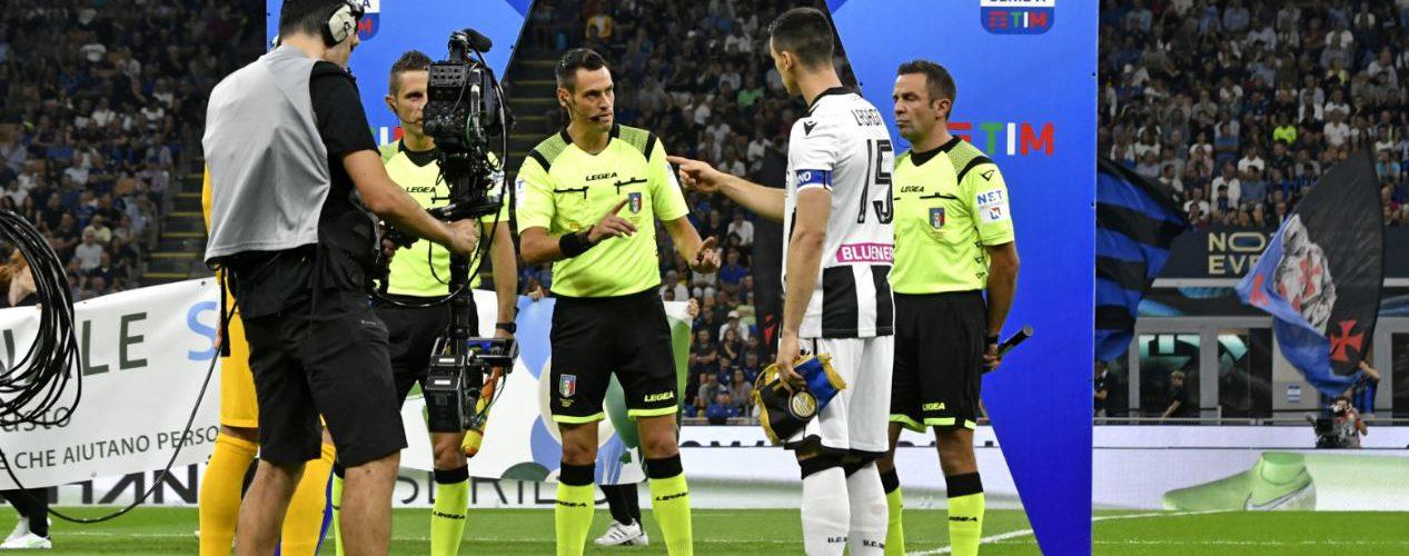 Serie A, le designazioni arbitrali per le sfide di domani
