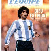 L'Équipe svela la copertina di domani: «Dio è morto»