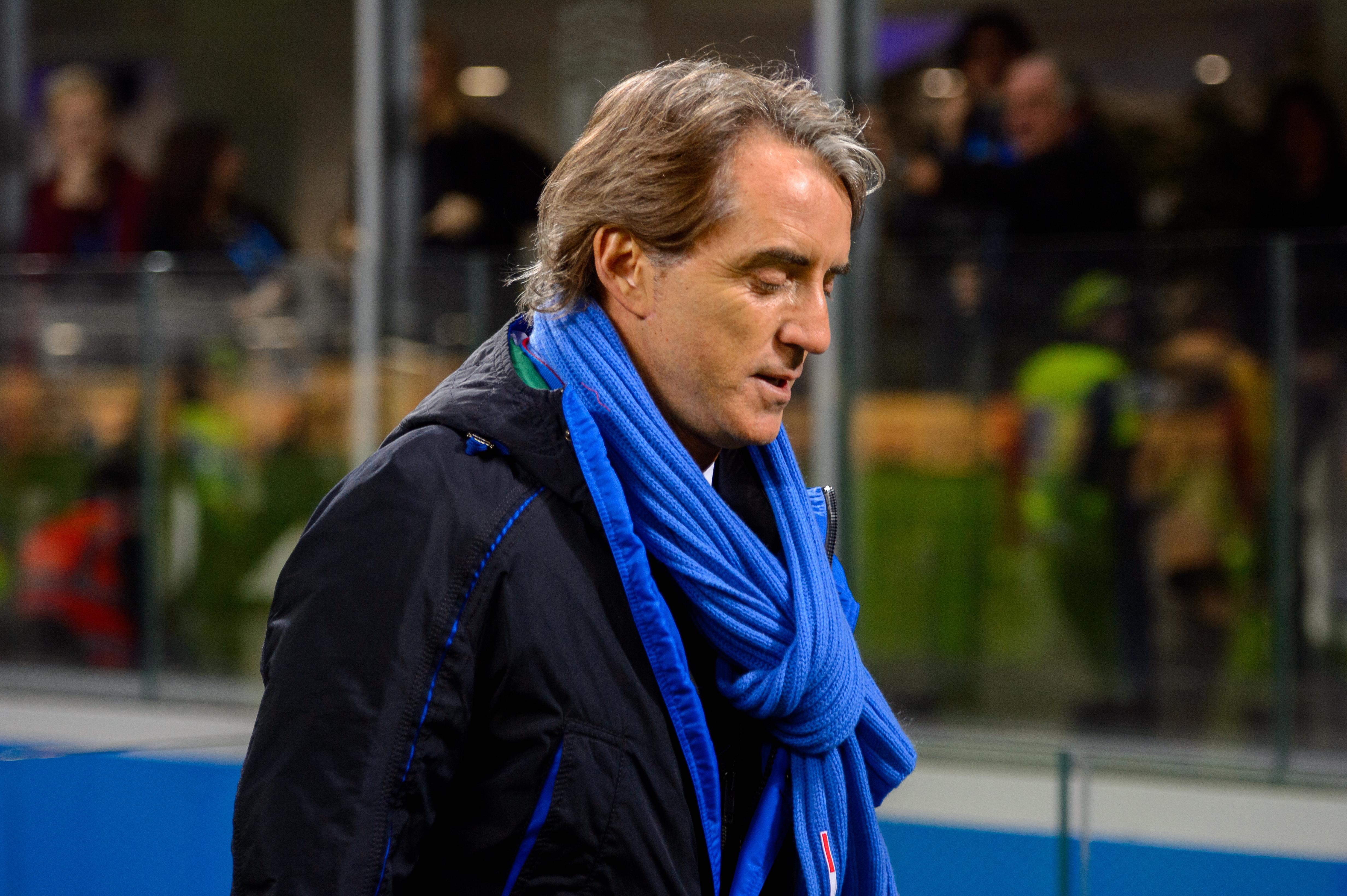 La prima formazione di Roberto Mancini da CT dell'Italia